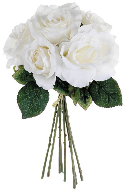 """11"""" Rose Bouquet White Box of 12"""