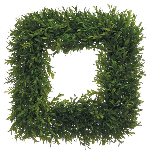 "14"" Square Tea Leaf Wreath Green Set of 2"