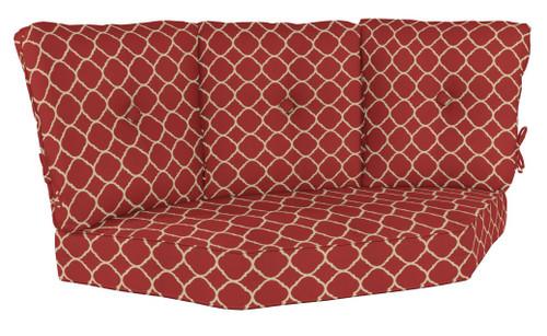 Hanamint Estate 3-Back Corner Cushion 7558 6546 Accord Crimson