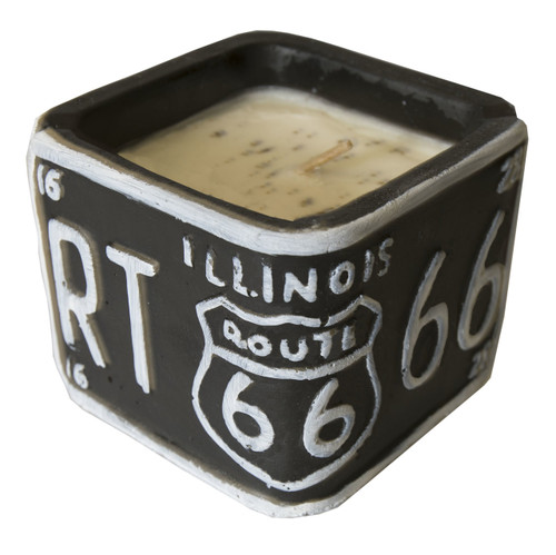 American Highway License Plate Candle Sweet Almond Crème