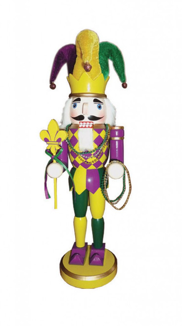 Santa's Workshop Mardi Gras Nutcracker 14.5""