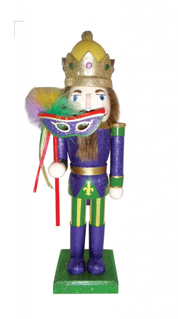 Santa's Workshop Mardi Gras King Nutcracker