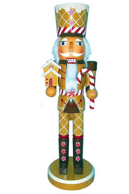 "Santa's Workshop Gingerbread Soldier Nutcracker 14"""