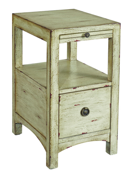 "Coast To Coast 1 Drawer 14"" Accent Table Cream"