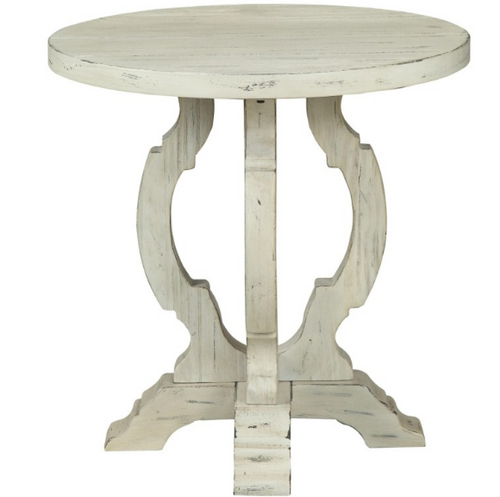 """Coast To Coast 24"""" Accent Table Orchard White"""