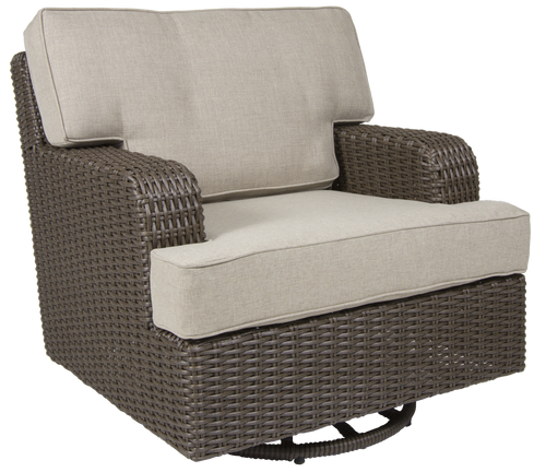 Brookstone Outdoor Swivel Glider w/ Cushion Set of 2