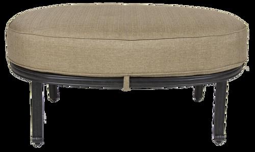 Castle Rock Outdoor Oval Ottoman w/ Cushion