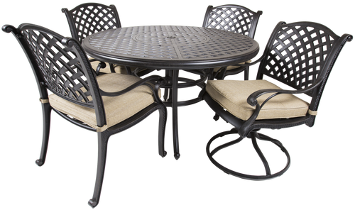 Castle Rock Outdoor 5 Piece Dining Set