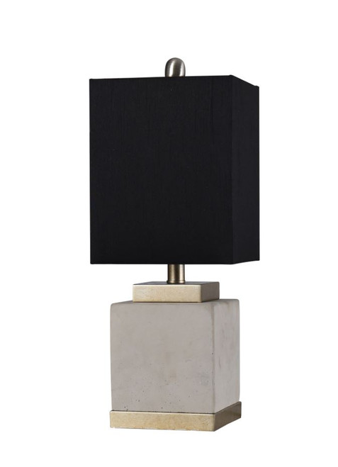 """20"""" Concrete and Steel Accent Table Lamp"""