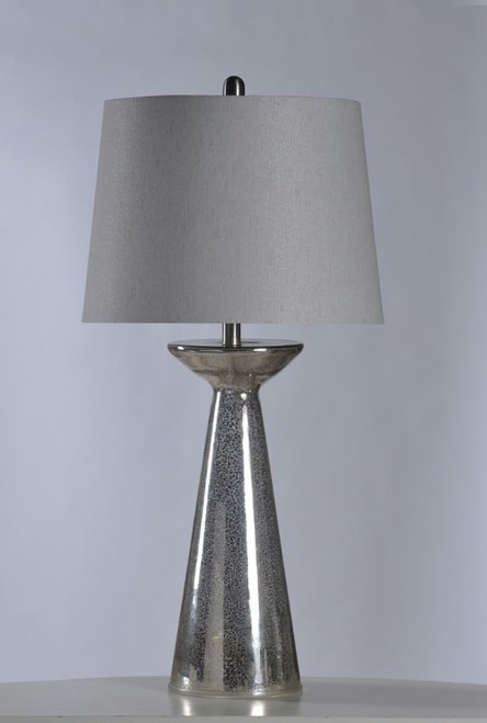 "34"" Northbay Glass Table Lamp with Shade"