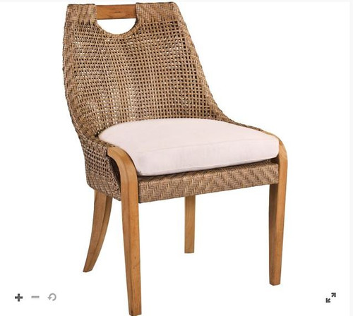 Lane Venture Edgewood Outdoor Teak and Synthetic Wicker Dining Side Chair