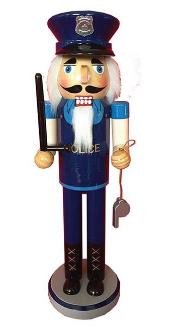 Santa's Workshop Policeman Nutcracker 14""