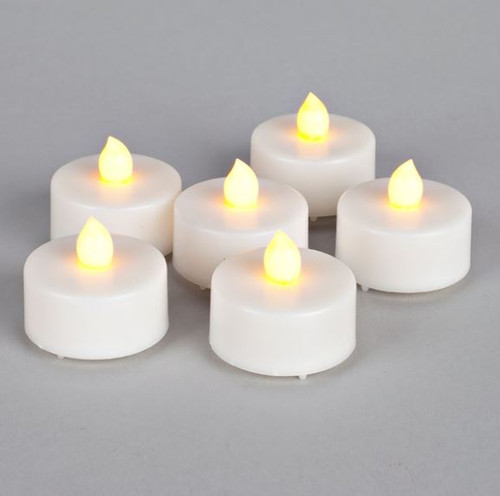 Everlasting Glow Soft Glow Flicker LED Tealights 6 Pack