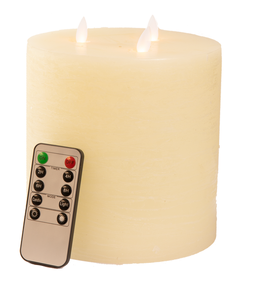 Flameless LED 3  Light Motion Ivory Candle with Remote