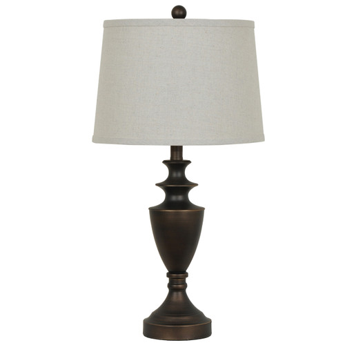 "Crestview Bronze Finish Contemporary Table Lamp 27.5"""
