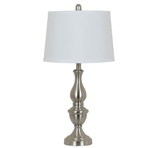 """Crestview Brushed Nickel Finish Table Lamp 27.5"""""""