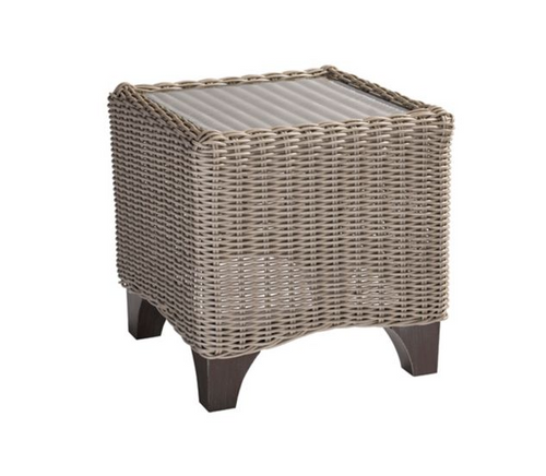Lane Venture Requisite Outdoor Accent Table with Glass