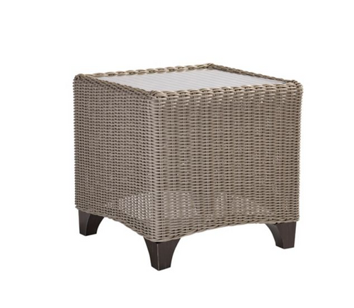 Lane Venture Requisite Outdoor End Table with Glass