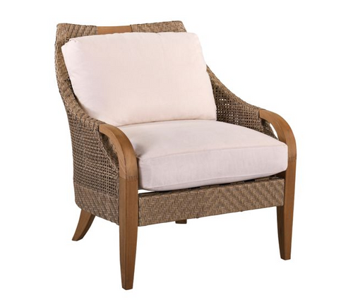 Lane Venture Edgewood Outdoor Teak and Synthetic Wicker Lounge Chair