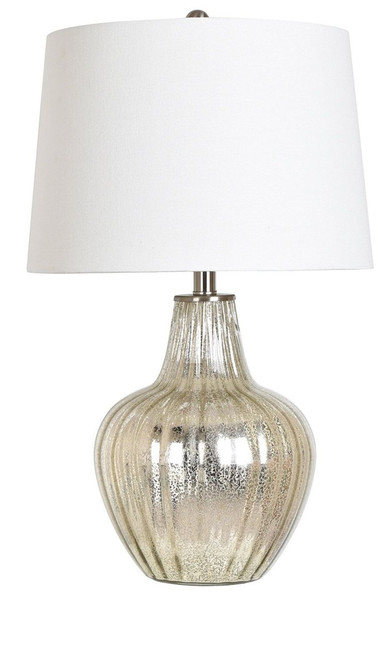 "Crestview Mercury Glass Table Lamp 25"" with 3 Way Switch"
