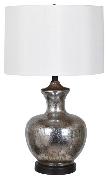 "Crestview Mercury Glass Table Lamp 25.25"""
