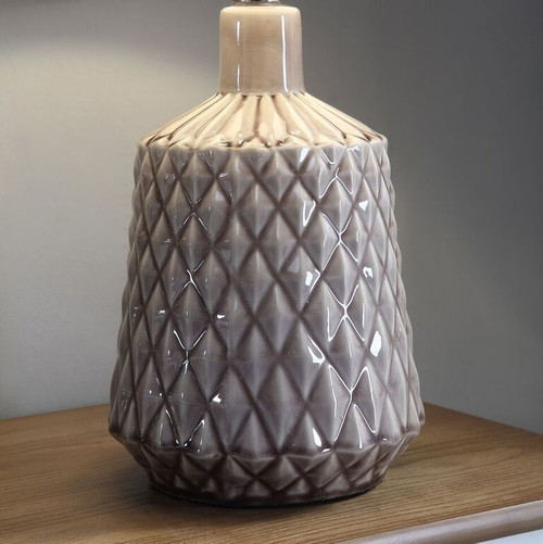 "Crestview Ceramic Table Lamp 21.75"" Grey"
