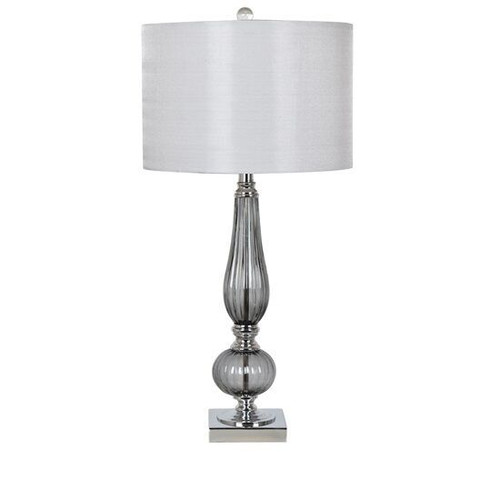 Crestview Glass and Metal Table Lamp 28.75""