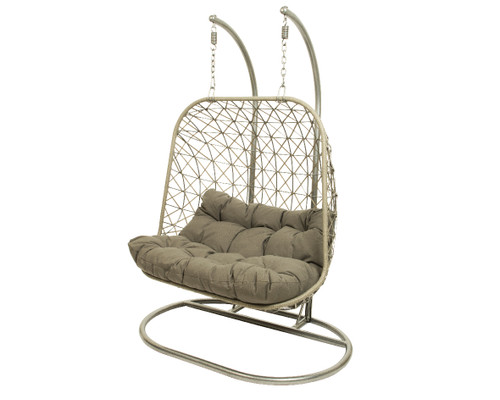 Bologna Two Seat Hanging Chair Grey