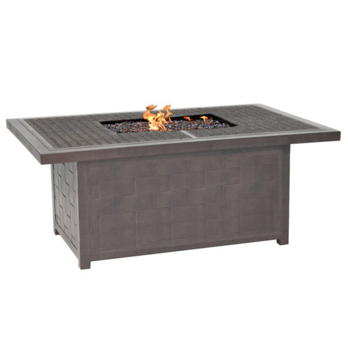 Castelle Classical Rectangular Coffee Table with Firepit and Lid