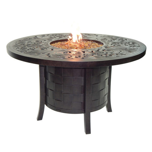 "Castelle Classical 49"" Round Dining Table with Firepit and Lid"