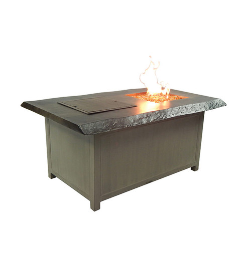 Castelle Altra Rectangular Fire and Ice Coffee Table and Lid