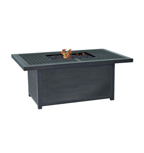 Castelle Altra Rectangular Coffee Table with Firepit and Lid