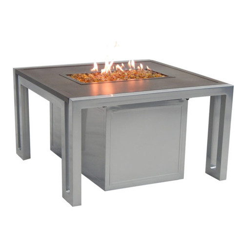 Castelle Icon Square Firepit Coffee Table and Lid
