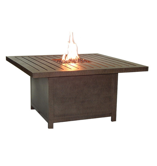 "Castelle Moderna 44"" Square Coffee Table with Firepit and Lid"