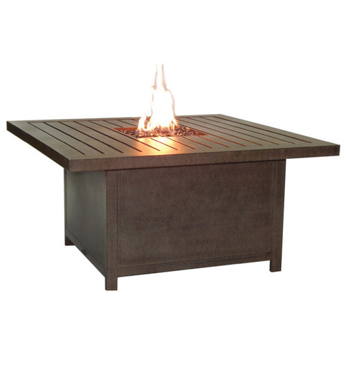 Castelle Moderna Rectangular Coffee Table with Firepit and Lid