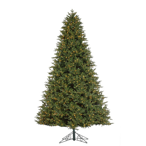 12' Deluxe Trinity Pine Prelit LED Artificial Christmas Tree