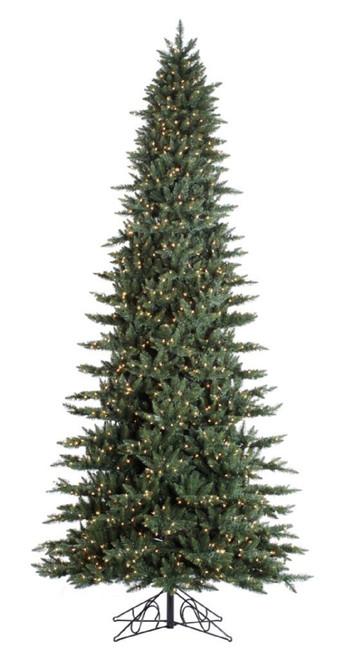 15' Slim Calgary Prelit Artificial Christmas Tree
