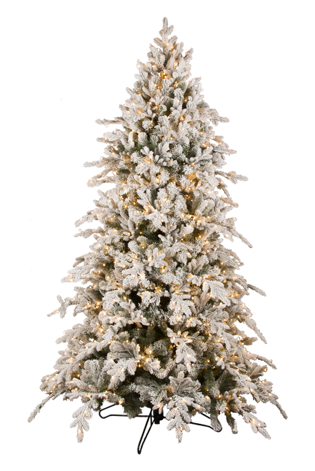 9' ForeverTree Snowy Bavarian Pine EasyLite Tree with Remote