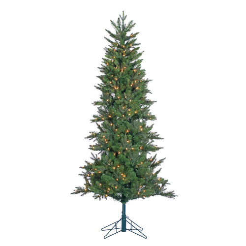 6.5' Prelit Pencil Artificial Christmas Tree with Power Pole