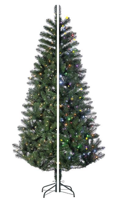 7.5 Prelit Dual Color Changing LED Idaho Pine Artificial Christmas Tree