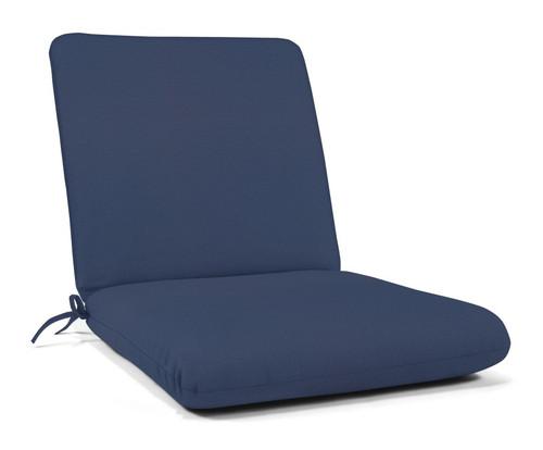 """Quick Ship Sunbrella 44"""" x 22"""" Club Chair Cushion Canvas Navy"""
