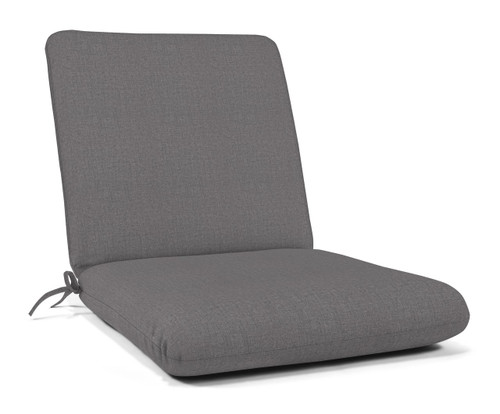 "Quick Ship Sunbrella 44"" x 22"" Club Chair Cushion Cast Slate"