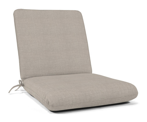 """Quick Ship Sunbrella 44"""" x 22"""" Club Chair Cushion Cast Silver"""
