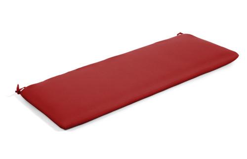 "Quick Ship Sunbrella 48"" Bench Cushion Canvas Jockey Red"