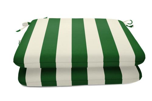 "Quick Ship Sunbrella 18"" Square Seat Pad 2 Pack Maxim Forest Green"