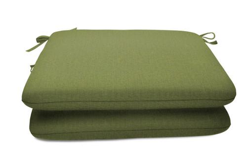 "Quick Ship Sunbrella 18"" Square Seat Pad 2 Pack Cast Moss"