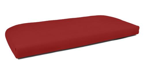 Quick Ship Sunbrella Wicker Settee Cushion Canvas Jockey Red