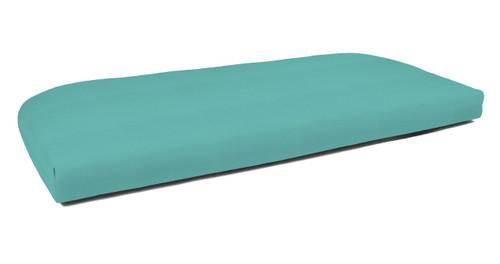 Quick Ship Sunbrella Wicker Settee Cushion Canvas Aruba