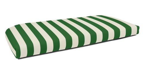 Quick Ship Sunbrella Wicker Settee Cushion Maxim Forest Green