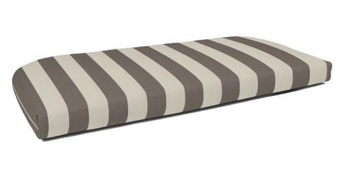 Quick Ship Sunbrella Wicker Settee Cushion Maxim Cocoa